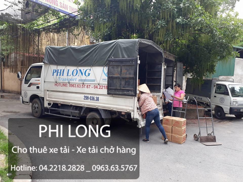 Phi Long cho thuê xe tải chở hàng tại phố Tản Đà