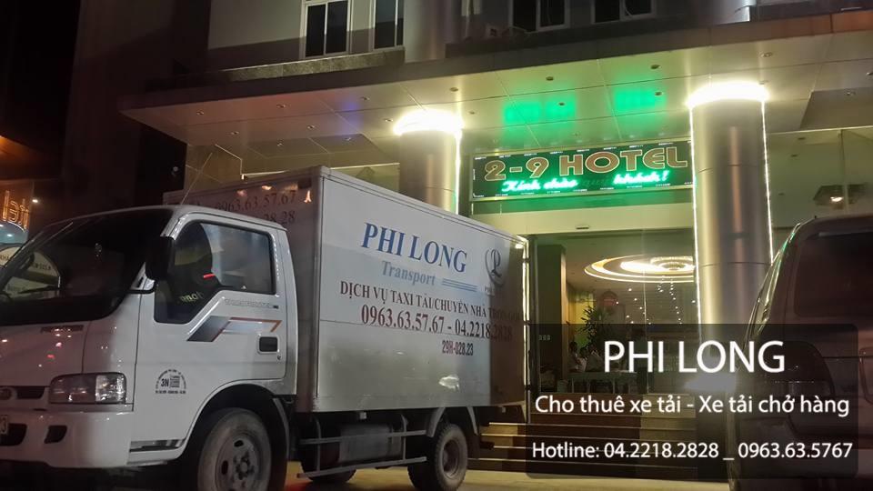 Phi Long cho thuê xe tải chuyển nhà tại phố tại phố Ao Sen