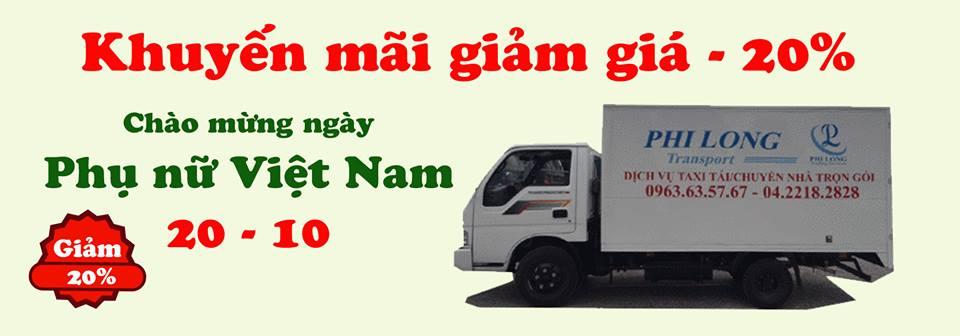 Dịch vụ cho thuê xe tải chở hàng giá rẻ Phi Long tại phố Thi Sách