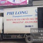 Dịch vụ xe tải chuyển nhà giá rẻ tại phố Quỳnh Mai
