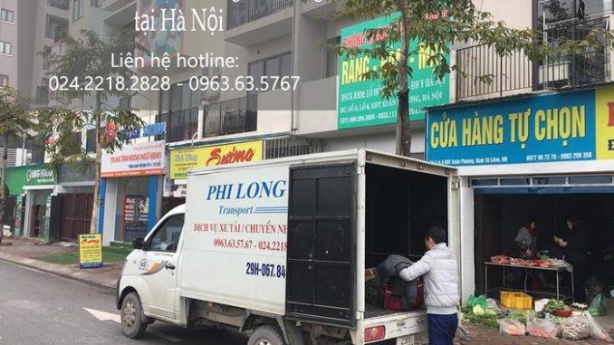 Xe tải chuyển nhà tại phố Dương Quang
