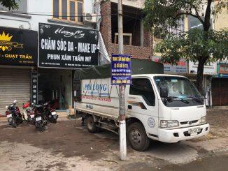 Xe tải chuyển nhà Phi Long tại phố Trung Kiên