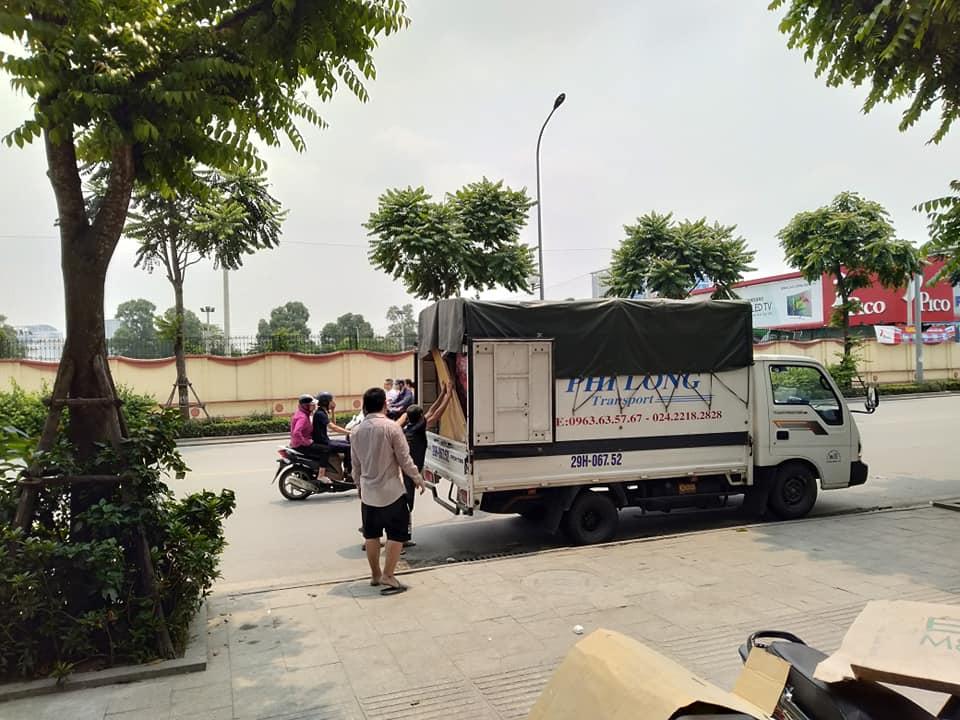 Xe tải chuyển nhà Phi Long tại phố Hàng Nón