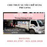 Xe tải chuyển nhà tại phố Phúc Xá