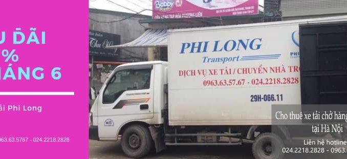 Dịch vụ xe tải chuyển nhà Phi Long tại phố Trưng Nhị