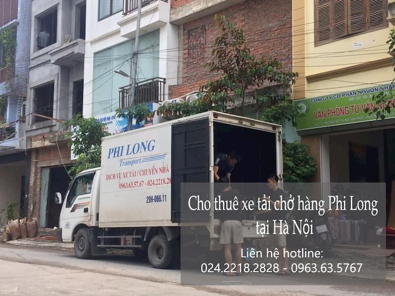 Xe tải chuyển nhà Phi Long tại phố Trần Hữu Dực