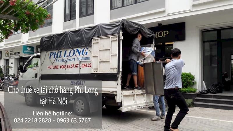 Xe tải chuyển nhà Phi Long tại phố Cầu Bây