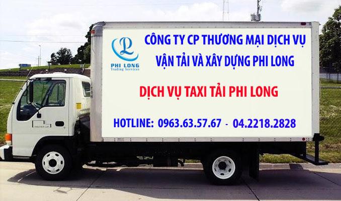 Xe tải chuyển nhà Phi Long tại phố Đào Văn Tập