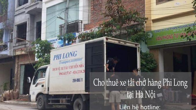 Xe tải chuyển nhà Phi Long tại phố Hoàng Như Tiếp