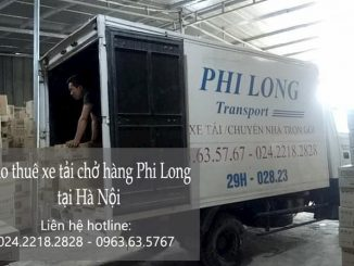 Xe tải chuyển nhà tại phố Lê Hữu Tựu