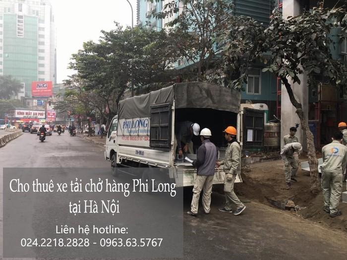 Xe tải chuyển hàng Phi Long phố Hàng Đậu