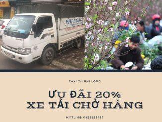 Xe tải chở hàng tết Phi Long phố Kim Mã Thượng