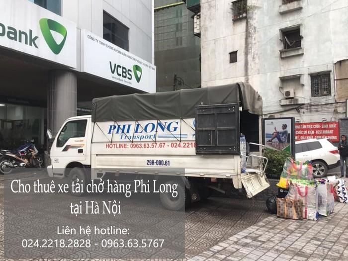 Xe tải chuyển nhà Phi Long tại xã Phụng Châu