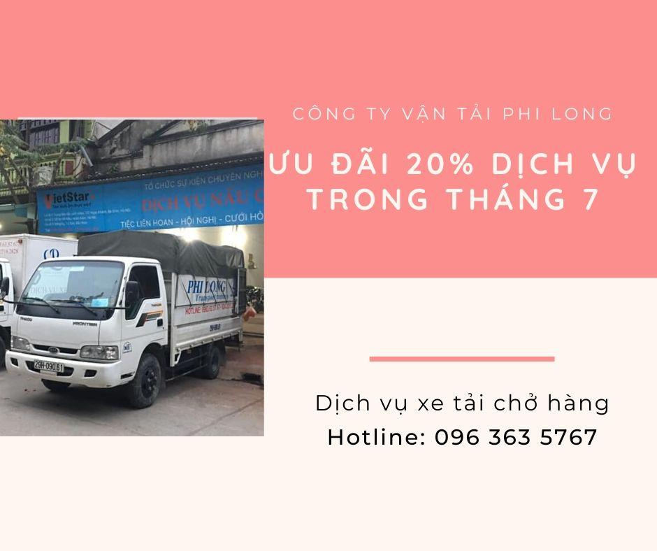 Xe tải vận chuyển giá rẻ Phi Long tại xã Quất Động