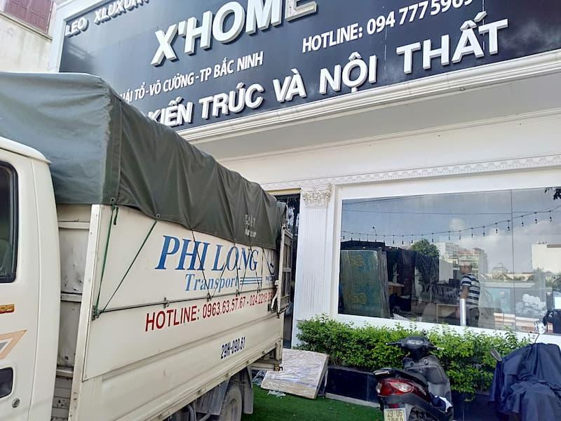Xe tải vận chuyển Phi Long tại xã Nam Phong
