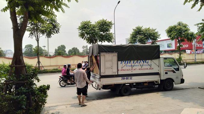 Xe tải chuyển nhà Phi Long tại xã Quang Lãng