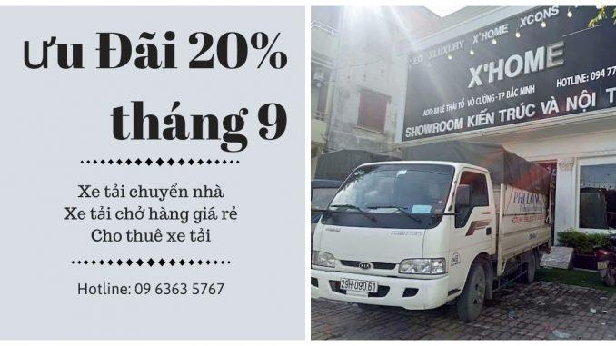 Xe tải chuyển nhà giá rẻ Phi Long tại xã Minh Tân