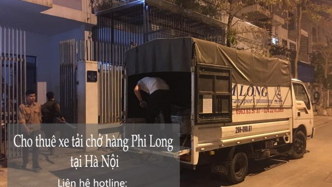 Xe tải vận chuyển Phi Long tại phố Trần Bình