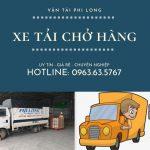 Xe tải chuyển nhà Phi Long tại xã Phúc Tiến