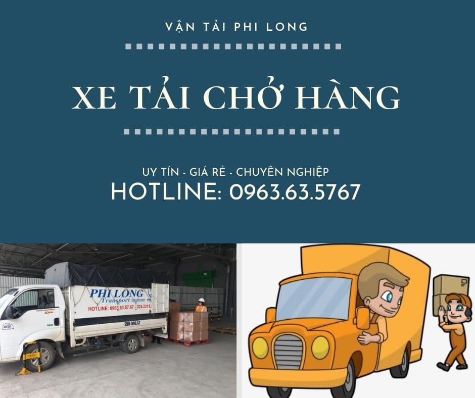 Xe tải vận chuyển Phi Long tại xã Phú Yên