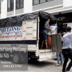 Xe tải vận chuyển Phi Long tại phố Lê Văn Hưu