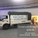 Xe tải chuyển nhà Phi Long tại đường Trần Duy Hưng