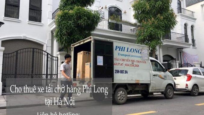 Xe tải chuyển nhà Phi Long tại đường Châu Văn Liêm