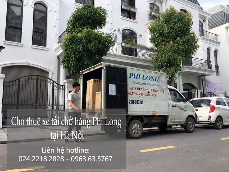 Xe tải chuyển nhà Phi Long tại đường đức giang