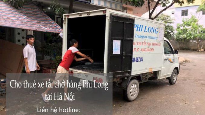 Xe tải chuyển nhà Phi long tại đường Phú Minh